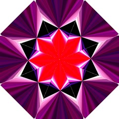 Red And Purple Triangles Abstract Pattern Background Hook Handle Umbrellas (small) by Nexatart