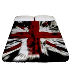 British Flag Fitted Sheet (king Size) by Nexatart