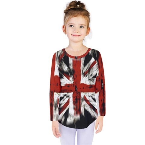 British Flag Kids  Long Sleeve Tee by Nexatart