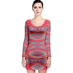Hard Boiled Candy Abstract Long Sleeve Bodycon Dress