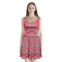 Hard Boiled Candy Abstract Split Back Mini Dress