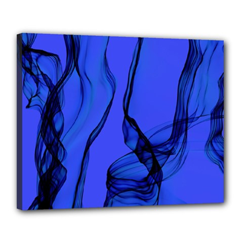 Blue Velvet Ribbon Background Canvas 20  X 16  by Nexatart