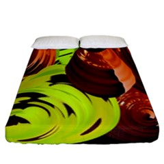 Neutral Abstract Picture Sweet Shit Confectioner Fitted Sheet (king Size) by Nexatart