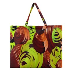 Neutral Abstract Picture Sweet Shit Confectioner Zipper Large Tote Bag