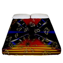 Diamond Manufacture Fitted Sheet (california King Size) by Nexatart