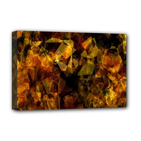 Autumn Colors In An Abstract Seamless Background Deluxe Canvas 18  X 12   by Nexatart
