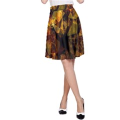 Autumn Colors In An Abstract Seamless Background A Line Skirt
