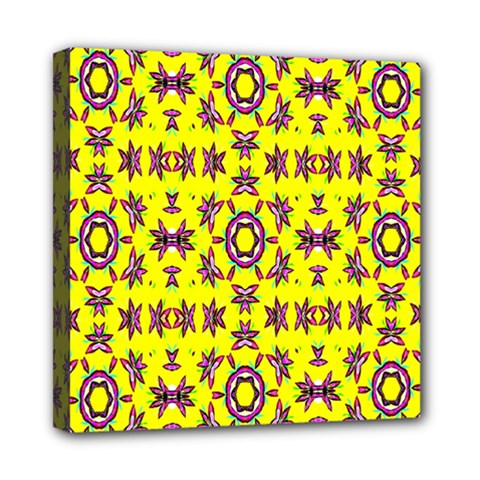 Yellow Seamless Wallpaper Digital Computer Graphic Mini Canvas 8  X 8  by Nexatart