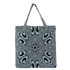 Kaleidoskope Digital Computer Graphic Grocery Tote Bag by Nexatart