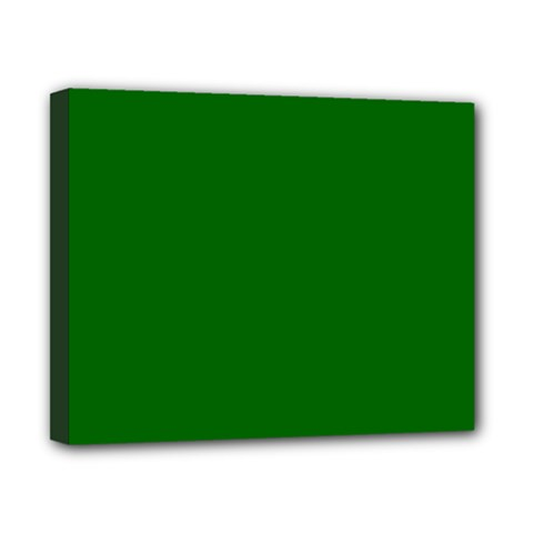 Dark Plain Green Canvas 10  X 8