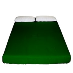 Dark Plain Green Fitted Sheet (king Size) by Jojostore