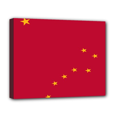 Alaska Star Red Yellow Deluxe Canvas 20  X 16   by Jojostore