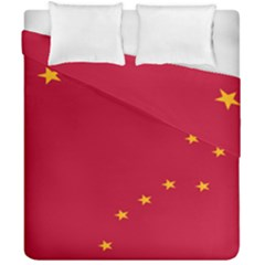 Alaska Star Red Yellow Duvet Cover Double Side (california King Size) by Jojostore