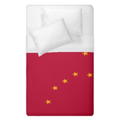 Alaska Star Red Yellow Duvet Cover (single Size) by Jojostore