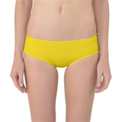 Trolley Yellow Brown Tropical Classic Bikini Bottoms by Jojostore
