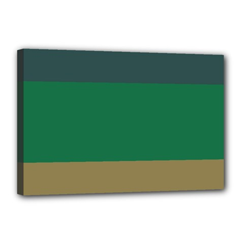 Blue Green Brown Canvas 18  X 12  by Jojostore
