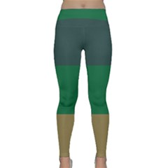Blue Green Brown Classic Yoga Leggings