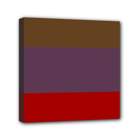 Brown Purple Red Mini Canvas 6  X 6  by Jojostore