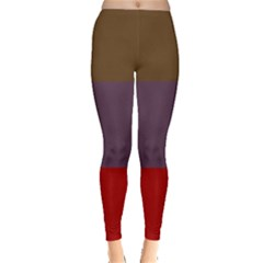 Brown Purple Red Leggings