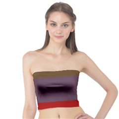 Brown Purple Red Tube Top by Jojostore