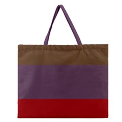 Brown Purple Red Zipper Large Tote Bag by Jojostore