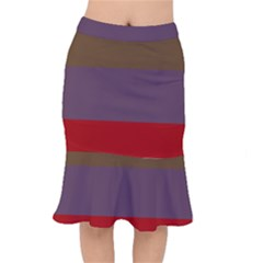 Brown Purple Red Mermaid Skirt by Jojostore