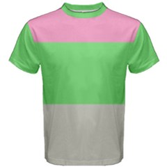 Grey Green Pink Men s Cotton Tee by Jojostore