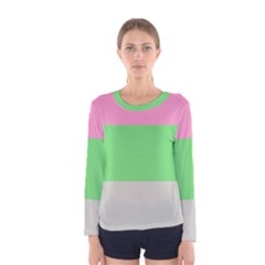Grey Green Pink Women s Long Sleeve Tee by Jojostore