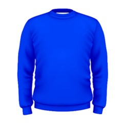 Plain Blue Men s Sweatshirt by Jojostore