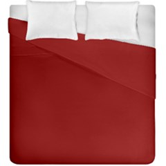 Plain Blue Red Duvet Cover Double Side (king Size) by Jojostore