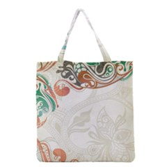 Flower Floral Tree Leaf Grocery Tote Bag by Jojostore