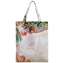 Flower Floral Tree Leaf Zipper Classic Tote Bag by Jojostore