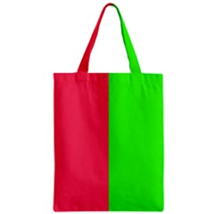Neon Red Green Zipper Classic Tote Bag by Jojostore
