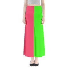 Neon Red Green Maxi Skirts by Jojostore