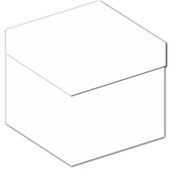 Plain White Storage Stool 12