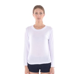 Plain White Women s Long Sleeve Tee by Jojostore