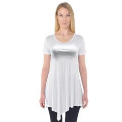 Plain White Short Sleeve Tunic