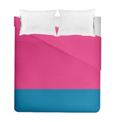 Trolley Pink Blue Tropical Duvet Cover Double Side (full/ Double Size)