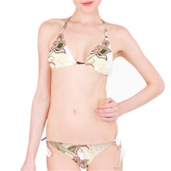 Floral Flower Star Leaf Gold Bikini Set by Jojostore