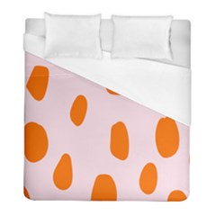 Polka Dot Orange Pink Duvet Cover (full/ Double Size) by Jojostore