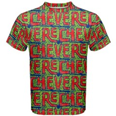 Typographic Graffiti Pattern Men s Cotton Tee by dflcprintsclothing