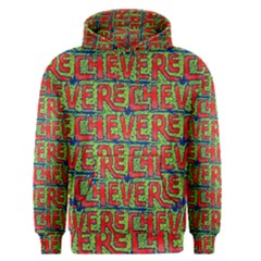 Typographic Graffiti Pattern Men s Pullover Hoodie by dflcprintsclothing