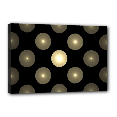 Gray Balls On Black Background Canvas 18  X 12  by Nexatart