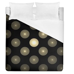 Gray Balls On Black Background Duvet Cover (queen Size) by Nexatart