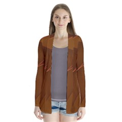 Brown Background Waves Abstract Brown Ribbon Swirling Shapes Cardigans