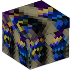 Background Of Blue Gold Brown Tan Purple Diamonds Storage Stool 12   by Nexatart