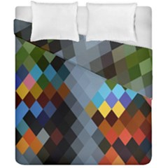 Diamond Abstract Background Background Of Diamonds In Colors Of Orange Yellow Green Blue And More Duvet Cover Double Side (california King Size)