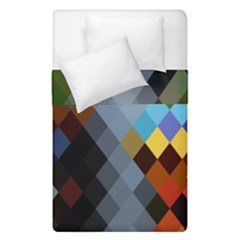 Diamond Abstract Background Background Of Diamonds In Colors Of Orange Yellow Green Blue And More Duvet Cover Double Side (single Size) by Nexatart
