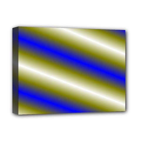 Color Diagonal Gradient Stripes Deluxe Canvas 16  X 12   by Nexatart