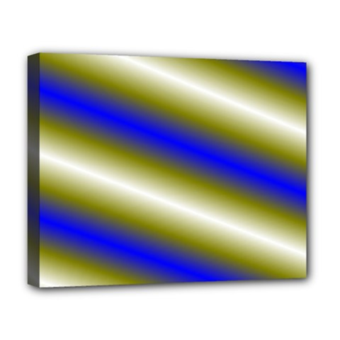 Color Diagonal Gradient Stripes Deluxe Canvas 20  X 16   by Nexatart